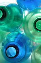 PET can be commercially recycled by thorough washing and re-melting, or by chemically breaking it down to its component materials to make new PET resin.