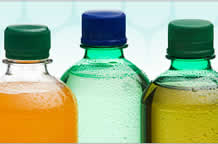 PET is the clear, lightweight form of polyester that is extruded or molded into plastic bottles and containers for packaging foods and beverages, personal care products, and many other consumer products.